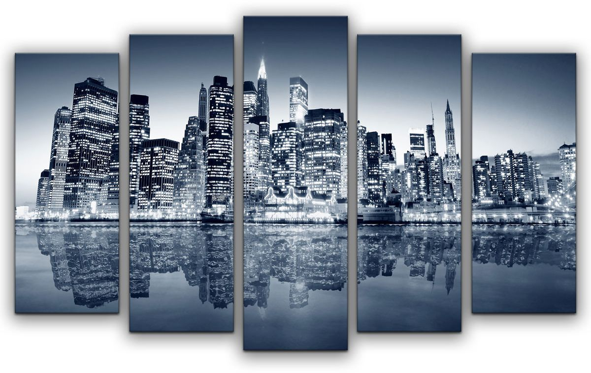 Картина модульная Картиномания Цвета большого города, 120 x 77 смАРТ-М801MМодульная картина Картиномания - это прекрасное решение для декора помещения. Картина состоит из пяти модулей. Цифровая печать. Холст натянут на деревянный подрамник галерейной натяжкой и закреплен с обратной стороны. Изделие устойчиво к выцветанию. Размер изображения: 120 x 77 см. В состав входит комплект креплений и инструкция по креплению на стену. Уход: можно протирать сухой мягкой тканью.