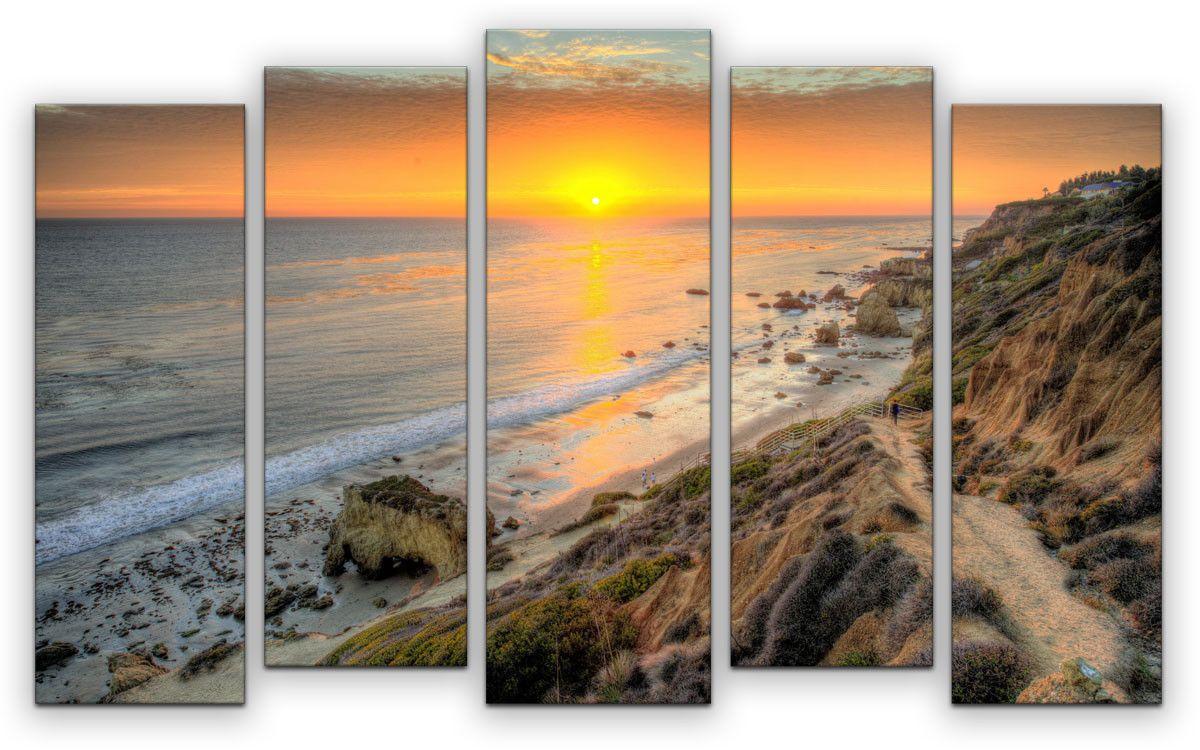 Картина модульная Картиномания Райский вечер, 120 x 77 смАРТ-М863MМодульная картина Картиномания - это прекрасное решение для декора помещения. Картинасостоит из пяти модулей. Цифровая печать. Холст натянут на деревянный подрамникгалерейной натяжкой и закреплен с обратной стороны. Изделие устойчиво к выцветанию.Размер изображения: 120 x 77 см. В состав входит комплект креплений и инструкция покреплению на стену. Уход: можно протирать сухой мягкой тканью.