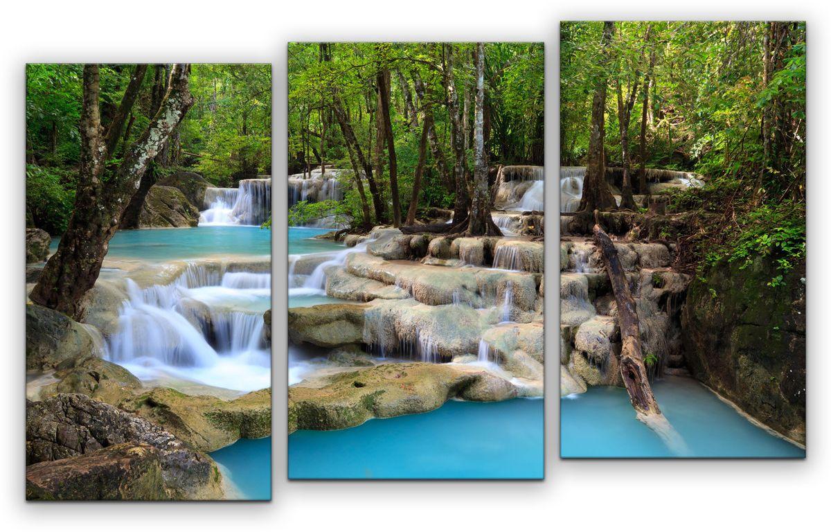 Картина модульная Картиномания Водопад, 120 x 77 смАРТ-М884MВ состав входит комплект креплений и инструкция по креплению на стену.