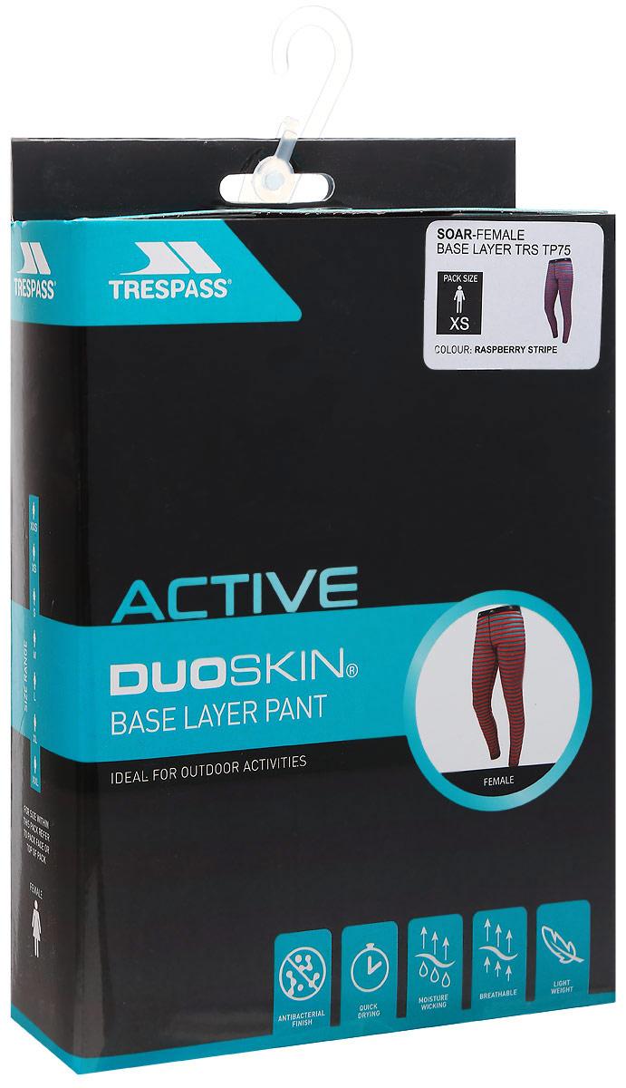 Термобелье брюки женские Trespass Soar, цвет:  розовый, голубой.  FABLBTM20002.  Размер XS (42)