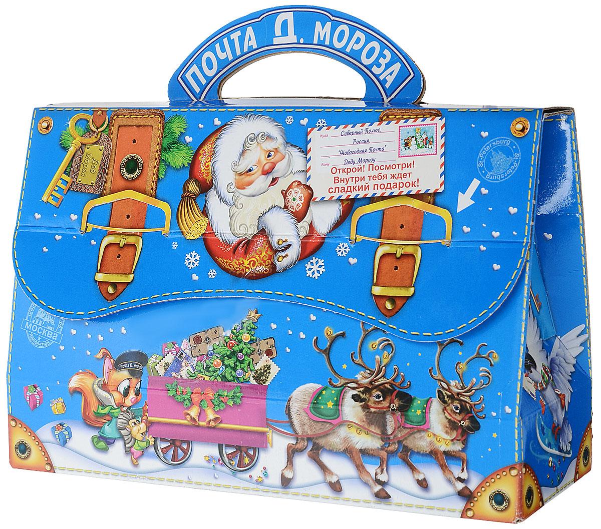 Сладкий новогодний подарок Почта Деда Мороза 2, 600 г1551Новогодние подарки в картонной упаковке считаются самыми популярными для поздравления детей в детских садах и школах, с каждым годом остаются лидерами продаж. Сладкий Новогодний подарок  Почта Деда Мороза  очарует любого малыша своей яркой, разноцветной упаковкой, а прекрасно подобранный состав кондитерских изделий от самых известных производителей позволит в полной мере насладиться праздником. Прекрасный вариант поздравления детей на утренниках в детских садах и школах.Уважаемые клиенты!Обращаем ваше внимание на возможные изменения в дизайне упаковки. Качественные характеристики товара остаются неизменными. Поставка осуществляется в зависимости от наличия на складе.Уважаемые клиенты! Обращаем ваше внимание, что полный перечень состава продукта представлен на дополнительном изображении.