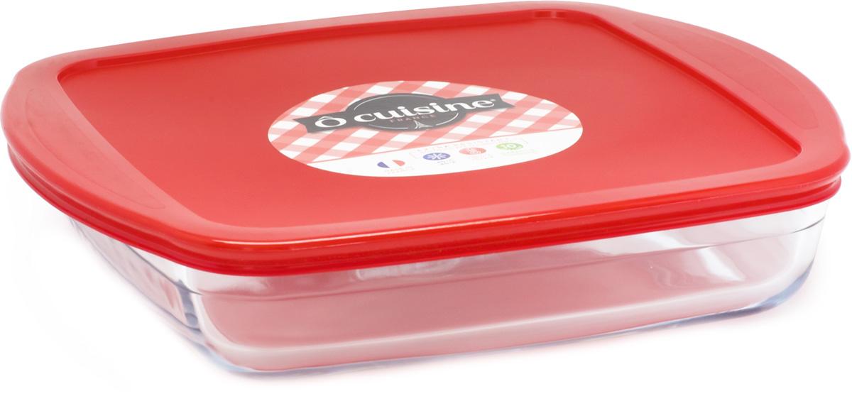 Блюдо квадратное Pyrex O Cuisine, с крышкой, 22 см. 209PC00/1045209PC00/1045
