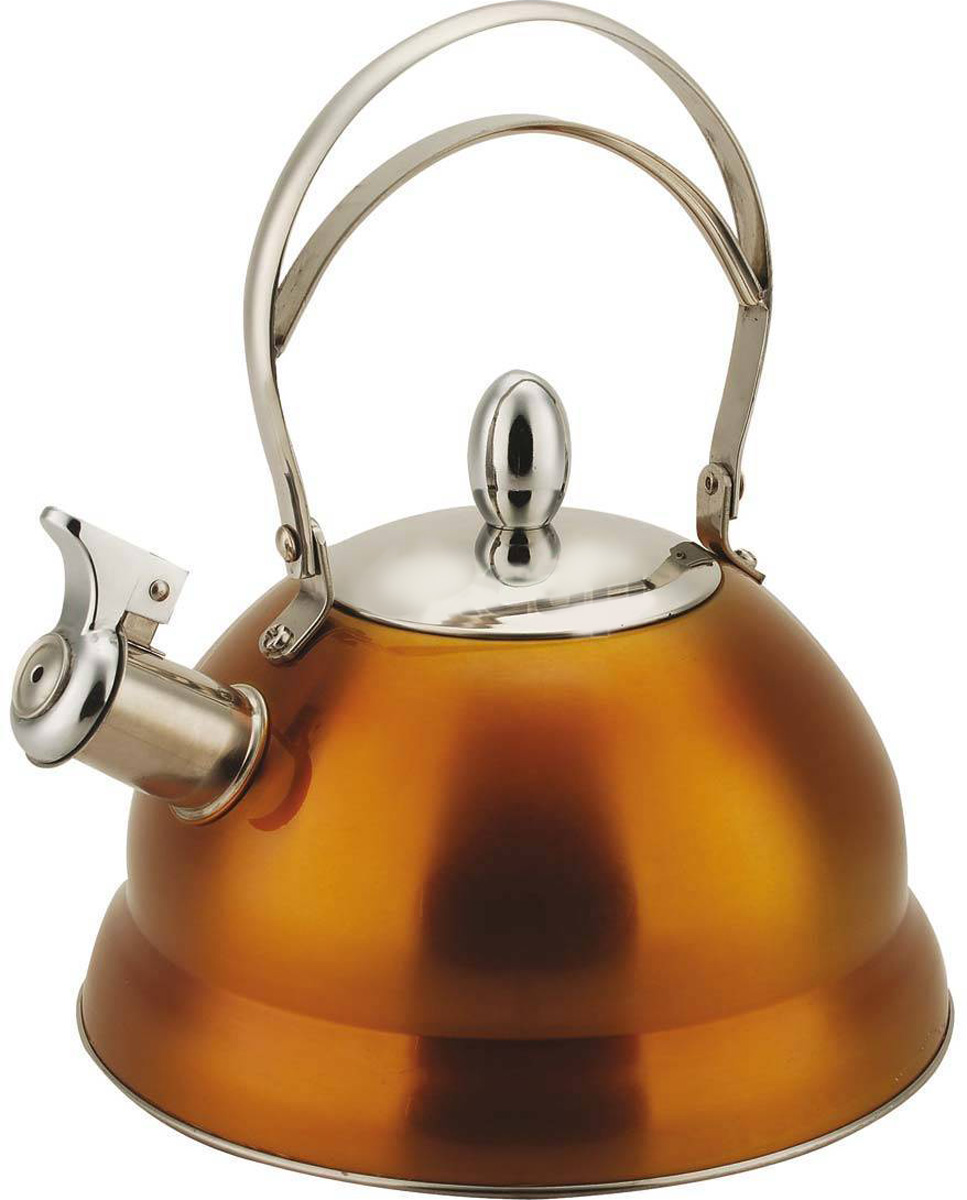 Чайник Bekker De Luxe со свистком, цвет: желтый, 2,7 л. BK-S459BK-S459_желтый