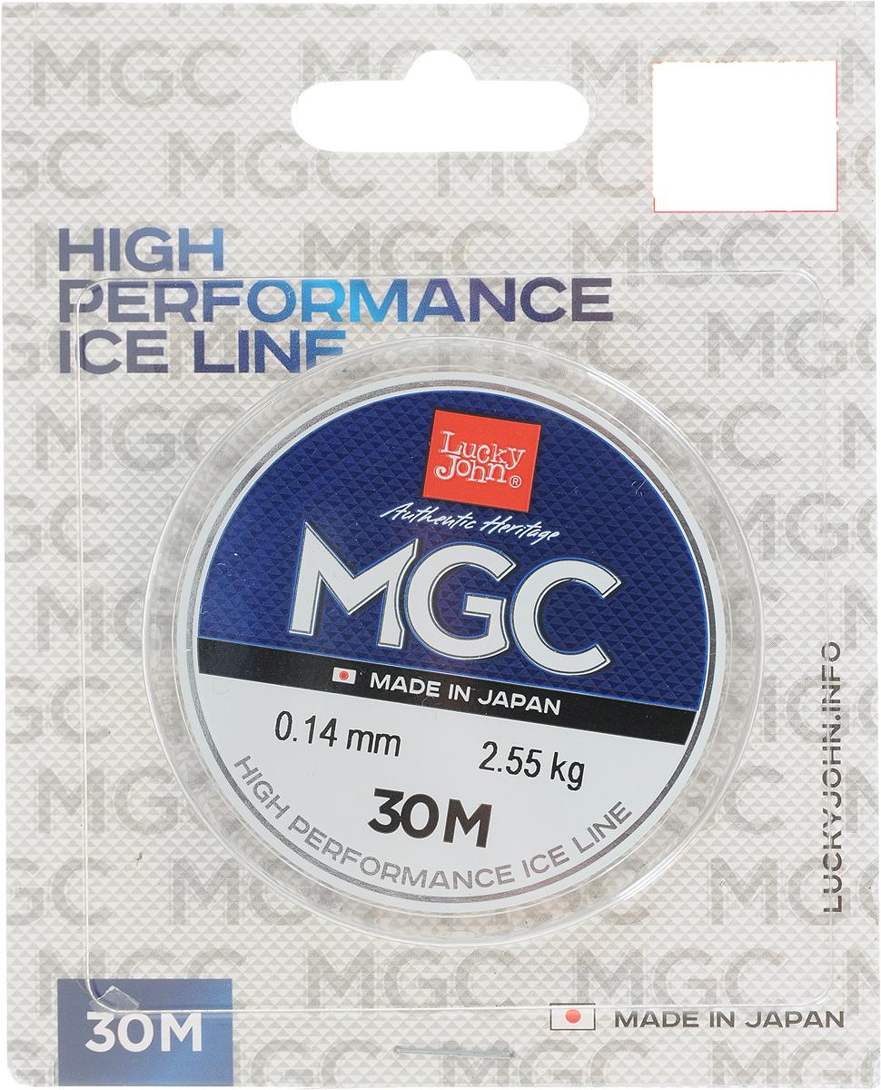 Леска зимняя Lucky John MGC, монофильная, 30 м, 0,14 мм, 2,55 кг