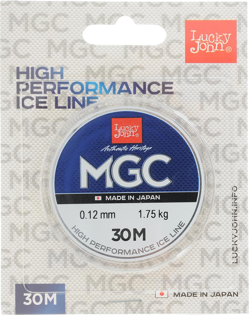 Леска зимняя Lucky John MGC, монофильная, 30 м, 0,12 мм, 1,75 кг