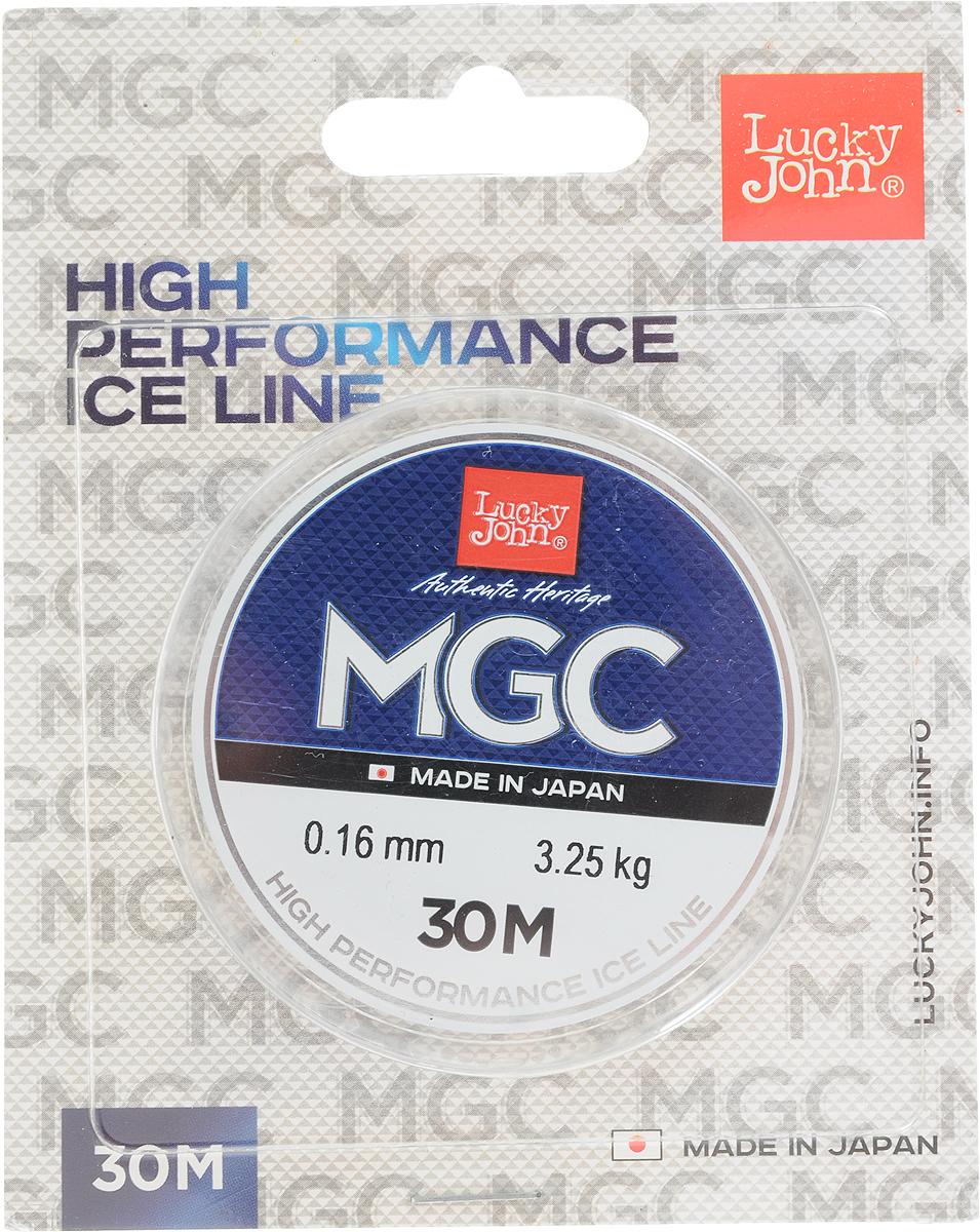Леска зимняя Lucky John MGC, монофильная, 30 м, 0,16 мм, 3,25 кг