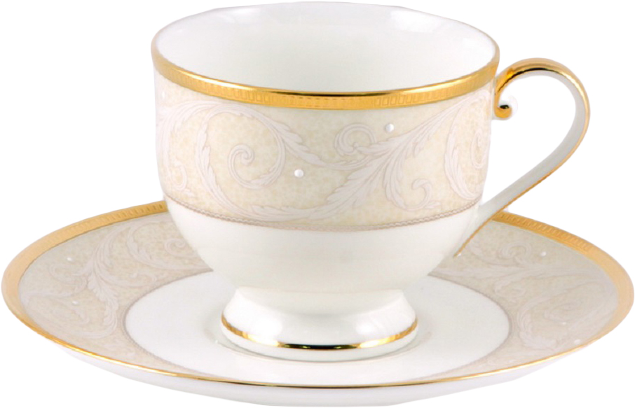Набор чайных пар Narumi Ноктюрн золотой, 220 мл, 6 шт51035-22061