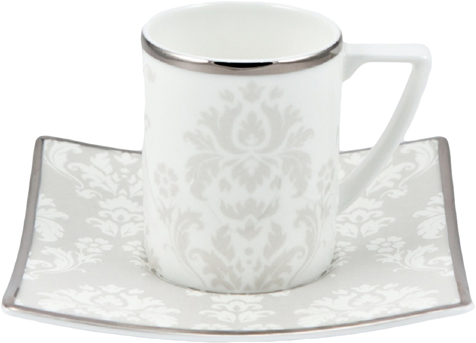 Набор чайных пар Royal Bone China Париж, 200 мл, 6 шт8907/12273