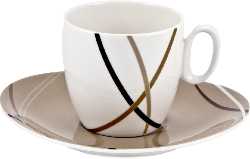 Набор кофейных пар Royal Bone China Мокко, 6 шт8939/12069