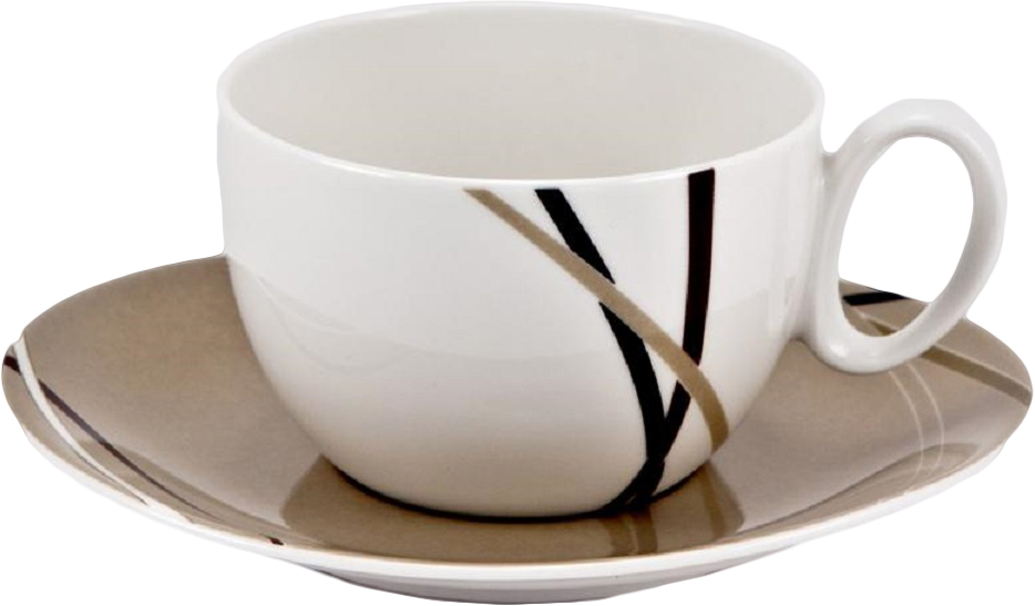 Набор чайных пар Royal Bone China Мокко, 6 шт8939/12068