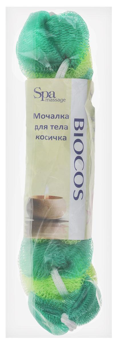 BioCos Мочалка для тела Косичка, цвет: зеленый, салатовый5955_зеленый, салатовыйМочалка для тела BioCos Косичка обладает тонизирующим эффектом. Подходит для ежедневного применения. Деликатно и нежно очищает кожу, легко вспенивает даже небольшое количество геля или мыла. Обладает приятным отшелушивающим эффектом, мочалка массирует кожу, снимая усталость и напряжение. Служит долго, сохраняя свою первоначальную форму.Перед использованием размочить в горячей воде. После применения тщательно промыть под струей воды и высушить.Состав: безузловая сетка.