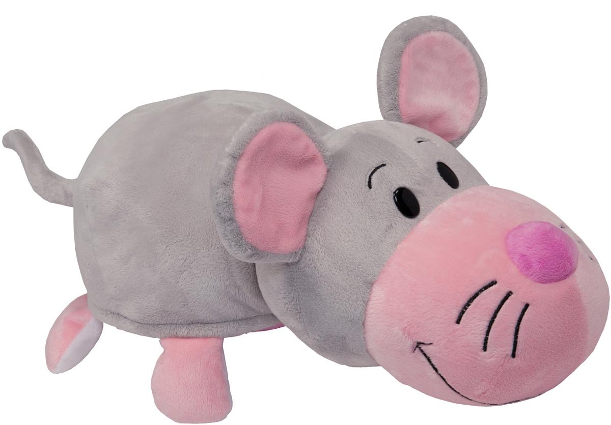 1TOYМягкая игрушкаВывернушка 2в1 Розовый кот-Мышь 35 см - Мягкие игрушки