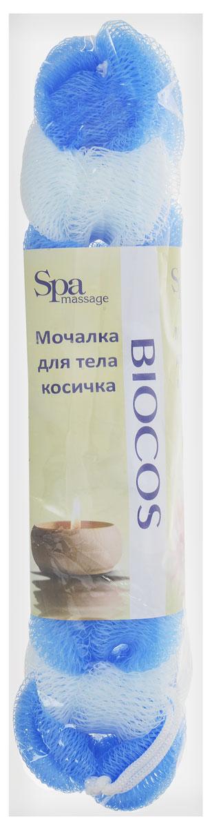 BioCos Мочалка для тела Косичка, цвет: белый, голубой5955_белый, голубойМочалка для тела BioCos Косичка обладает тонизирующим эффектом. Подходит для ежедневного применения. Деликатно и нежно очищает кожу, легко вспенивает даже небольшое количество геля или мыла. Обладает приятным отшелушивающим эффектом, мочалка массирует кожу, снимая усталость и напряжение. Служит долго, сохраняя свою первоначальную форму.Перед использованием размочить в горячей воде. После применения тщательно промыть под струей воды и высушить.Состав: безузловая сетка.