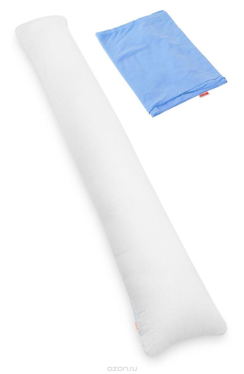 Био-подушка для всего тела I maxi цвет чехла голубойPI190K1Био-подушка I maxi - это длинная подушка, размера которой будет достаточно для комфорта высоких людей. Это большая подушка подойдет даже мужчинам. Удобна как длинная подушка для изголовья кровати, подушка-позиционер, большая подушка-обнимашка. Идеальна в качестве оригинального подарка парню или девушке.Мягкий наполнитель из тонкого полиэфирного волокна (экофайбер) гигиеничен и прост в уходе (машинная стирка). Подушка мягкая и комфортная, равномерно наполнена. Вы можете сгибать и скручивать подушку, чтобы принять удобную позу, потом подушка вернет свою первоначальную форму. Съемный чехол из хлопковой ткани защитит вашу подушку от загрязнений, он легко снимается и одевается, долговечен и прост в уходе.