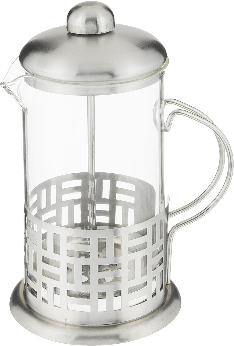 Френч-пресс Rainstahl, 600 мл. 7370-60RS\FP7370-60RS\FPФренч-пресс Rainstahl позволит быстро приготовить ароматный кофе или заварить чай. Корпус, фильтр-пресс и крышка выполнены из высококачественной нержавеющей стали, прозрачная колба изготовлена из жаропрочного стекла. Стенки корпуса дополнены перфорацией. Можно мыть в посудомоечной машине. Высота френч-пресса: 21 см. Диаметр основания: 10,5 см. Диаметр колбы: 9 см.