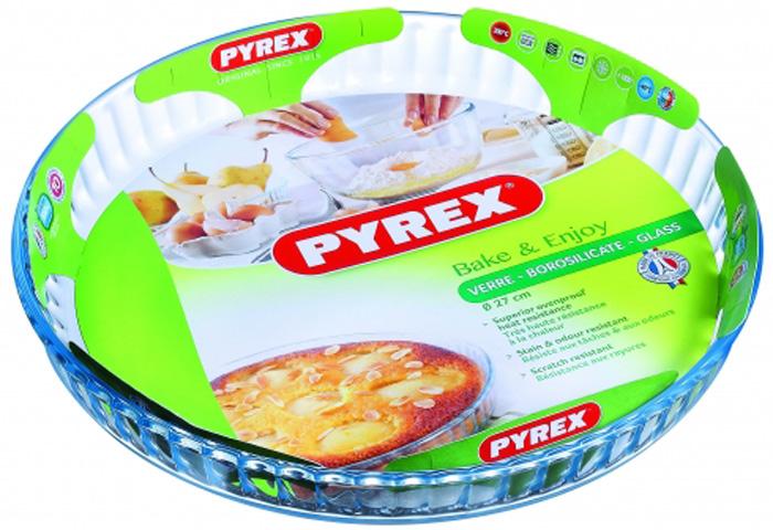 Форма для выпечки Pyrex Smart Cooking, 27 см. 813B000/5046813B000/5046Жаропрочная форма для запекания из стекла с гофрированными стенками предназначена для приготовления блюд в духовках и СВЧ. Прозрачное стекло позволяет контролировать процесс приготовления, а привлекательный внешний вид, стильная и эргономичная форма - подавать на стол, не перекладывая содержимое. Жаропрочную стеклянную форму так же можно использовать для хранения продуктов и блюд в холодильнике и морозильной камере.