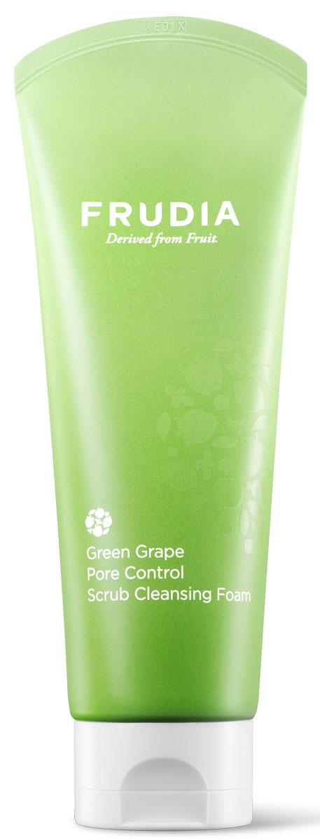 Frudia Green Grape Себорегулирующая скраб-пенка для умывания с зеленым виноградом, 145 гTGНежная пенка для умывания бережно очищает кожу от загрязнений, оставляя кожу безупречно чистой, мягкой и увлажненной. Экстракт зеленого винограда, богатый танинами, регулирует себовыделение и успокаивает кожу, а натуральные частицы косточек винограда мягко удаляют омертвевшие клетки и очищают поры.