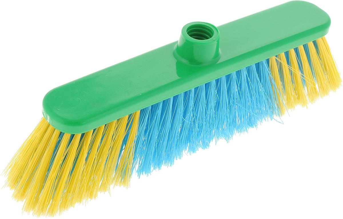 Щетка для пола Хозяюшка Мила Азалия, цвет: зеленый, желтый, голубой19041_зеленый, желтый, голубойЩетка для пола Хозяюшка Мила Азалия изготовлена из пластика. Щетина средней жесткости идеально подходит для уборки пола. Может использоваться как в домашних, так и промышленных целях. Щетка долговечна и устойчива к погодному воздействию. Универсальная резьба подходит ко всем видам ручек. Щетка станет незаменимым помощником по хозяйству.