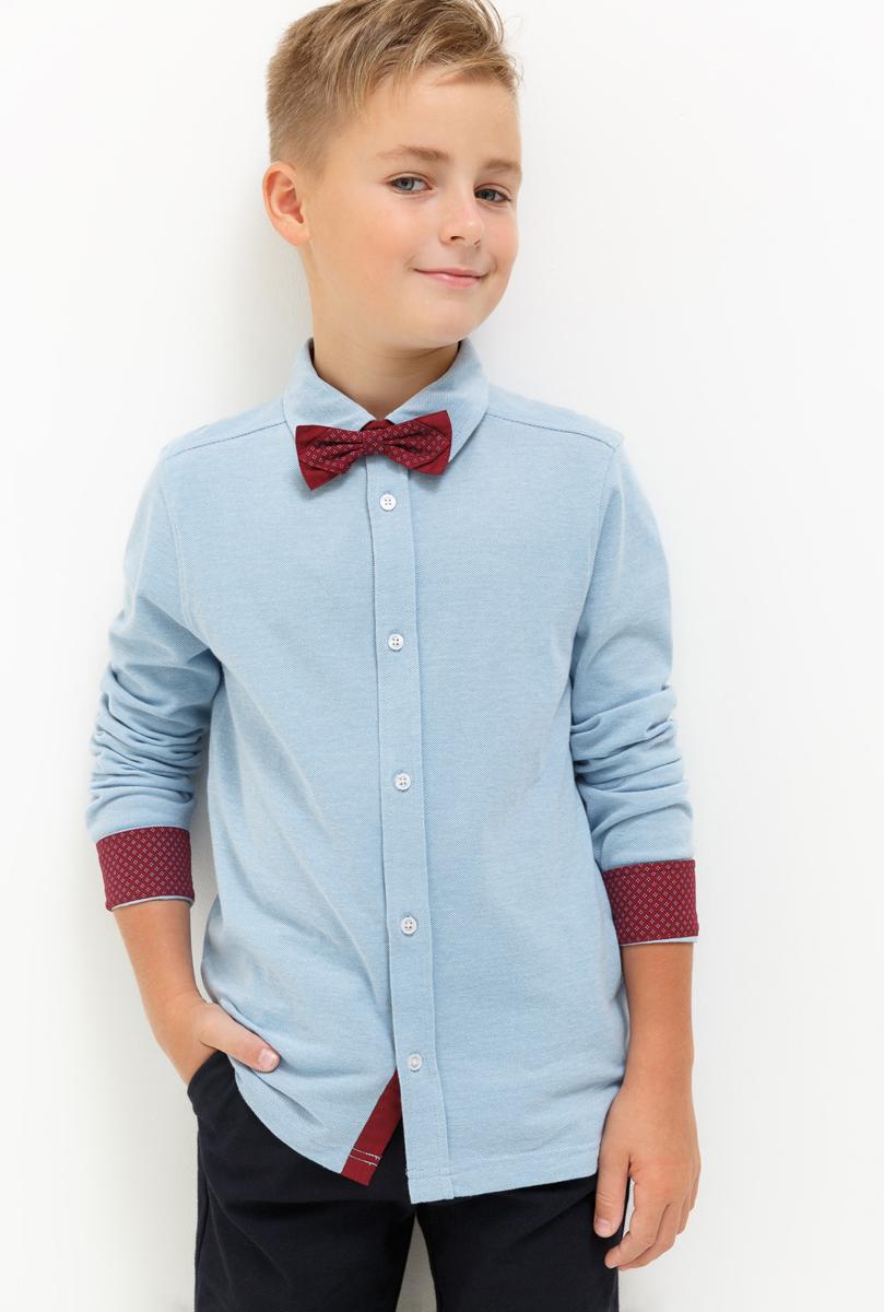 Рубашка для мальчика Acoola Firenze, цвет: голубой. 20110280057_400. Размер 16420110280057_400