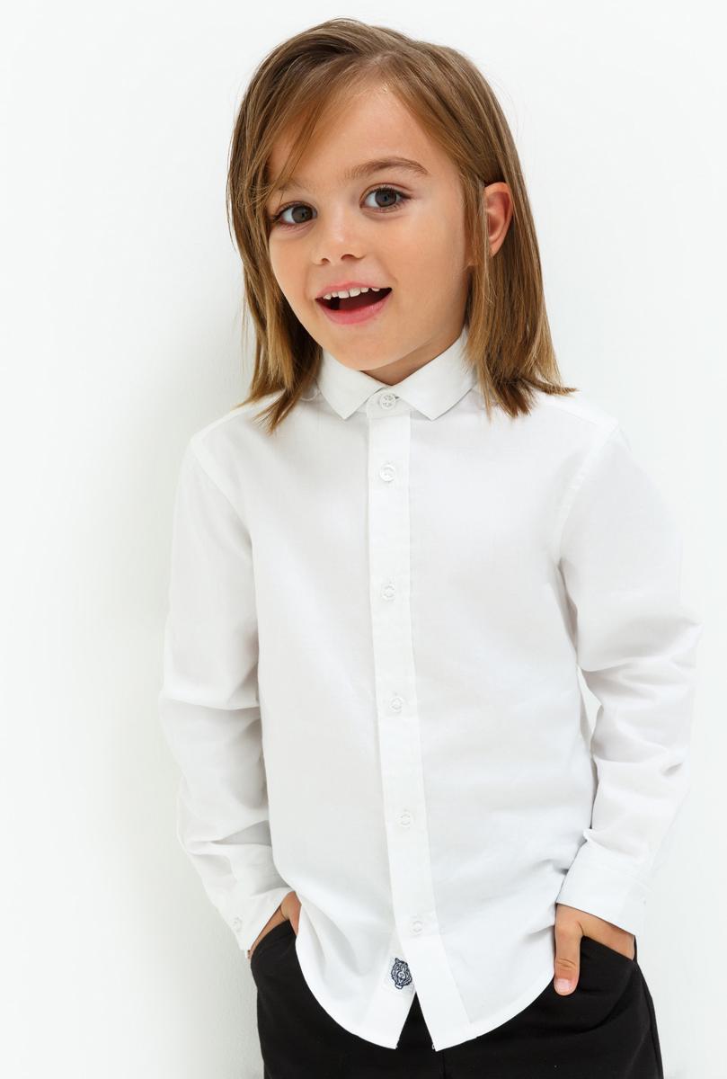 Рубашка для мальчика Acoola Claus, цвет: белый. 20120280039_200. Размер 12820120280039_200
