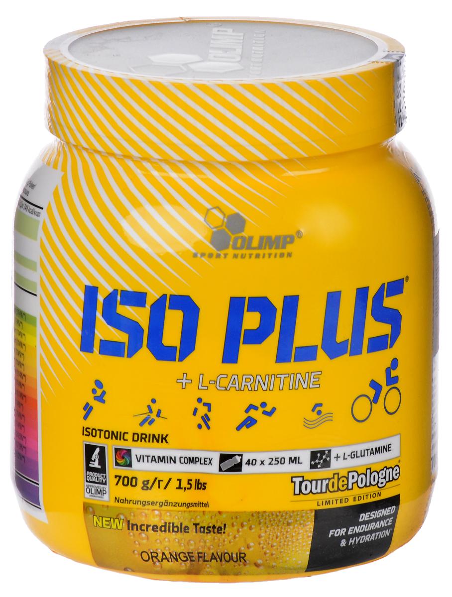 Изотонический напиток Olimp Sport Nutrition Iso Plus Powder, апельсин, 700 г00000000027Olimp Sport Nutrition Iso Plus Powder - это тщательно подобранный концентрат для подготовки изотонического напитка в порошке, с добавлением L-карнитина и L-глутамина. Благодаря такому сочетанию средство поможет поддерживать ваш организм во время длительных физических нагрузок. Рекомендации по применению: используйте по мере необходимости, особенно во время интенсивных физических нагрузок. Рекомендации по приготовлению: 17,5 г порошка (2 столовые ложки) в 250 мл воды.Состав: сахар, мальтодекстрины, глюкоза, фруктоза, регулятор кислотности, хлорид натрия, фосфат калия, фосфат кальция, цитрат натрия, карбонат магния, загуститель, ароматизаторы, L-глютамин, L-карнитин, витамины, ароматизатор.Товар сертифицирован.Как повысить эффективность тренировок с помощью спортивного питания? Статья OZON Гид