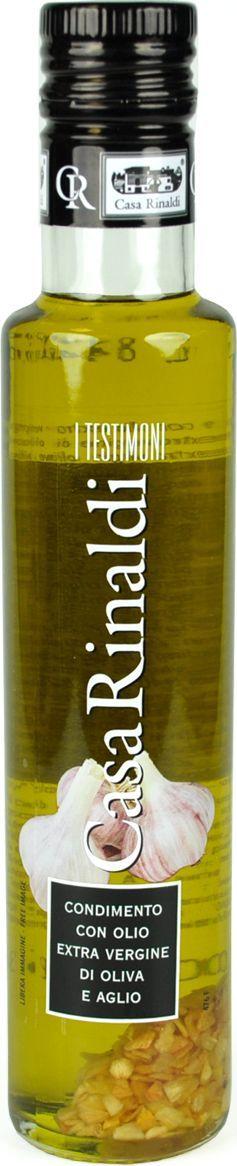 Casa Rinaldi Масло оливковое с чесноком Extra Vergine, 250 мл0.0103.0306Масло оливковое первого холодного отжима(98,5%) с добавлением чеснока (3%). Употребляется как заправка к блюдам, салатам и овощам. Допустим естественный осадок. Хранить при t не выше +25 С. После вскрытия хранить в темном, сухом, прохладном месте плотно закрытым.Масла для здорового питания: мнение диетолога. Статья OZON Гид