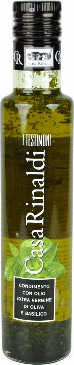 Casa Rinaldi Масло оливковое с базиликом Extra Vergine, 250 мл0.0103.0307Масло оливковое первого холодного отжима(98,5%)с добавлением базилика (0,5%). Употребляется как заправка к блюдам, салатам и овощам. Допустим естественный осадок. Хранить при t не выше +25 С. После вскрытия хранить в темном, сухом, прохладном месте плотно закрытым.Масла для здорового питания: мнение диетолога. Статья OZON Гид