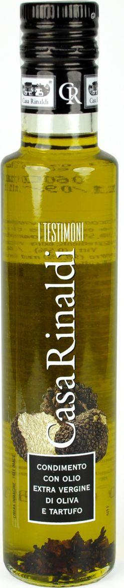 Casa Rinaldi Масло оливковое с кусочками трюфелей Extra Vergine, 250 мл casa rinaldi кофе молотый супер арабика натуральный 250 г