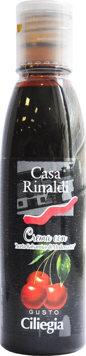 Casa Rinaldi Крем бальзамический со вкусом черешни, 150 мл0.0106.0490Концентрированное виноградное сусло, уксус бальзамический из Модены I.G.P. 20%. Идеально подходит для гарнира, мяса, рыбы, овощей, мороженного, ягод. Хранить при t не выше +25С.