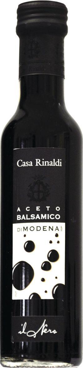 Casa Rinaldi Уксус бальзамический черная этикетка Модена, 250 мл casa rinaldi кофе молотый супер арабика натуральный 250 г