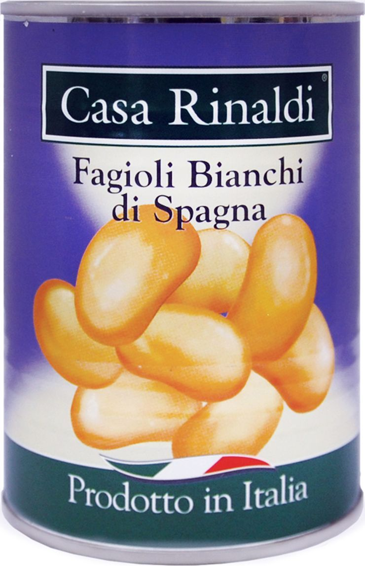 Casa Rinaldi Фасоль белая испанская, 400 г шесть соток фасоль белая 400 г