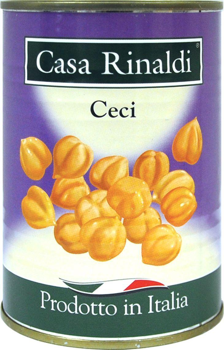 Casa Rinaldi Чечи горох нут, 400 г casa rinaldi рис арборио среднезерный 500 г