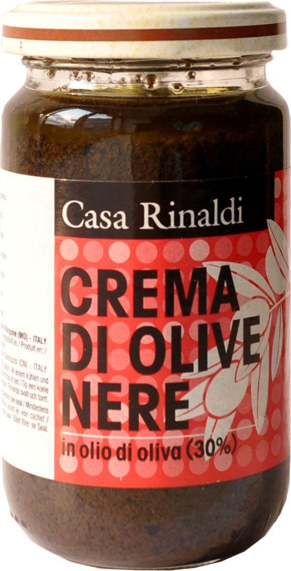 Casa Rinaldi Крем-паста из маслин в оливковом масле, 180 г0.0398.0236Консервированные по итальянским технологиям оливки и маслины имеют божественный вкус и придают пикантность салатам, пицце и многим другим блюдам. Они богаты витаминами А и Е и олеиновой кислотой, обладают омолаживающими и улучшающими зрение свойствами. Хранить при t от 0С до +25С. После вскрытия хранить в холодильнике и желательно употребить в течение недели.