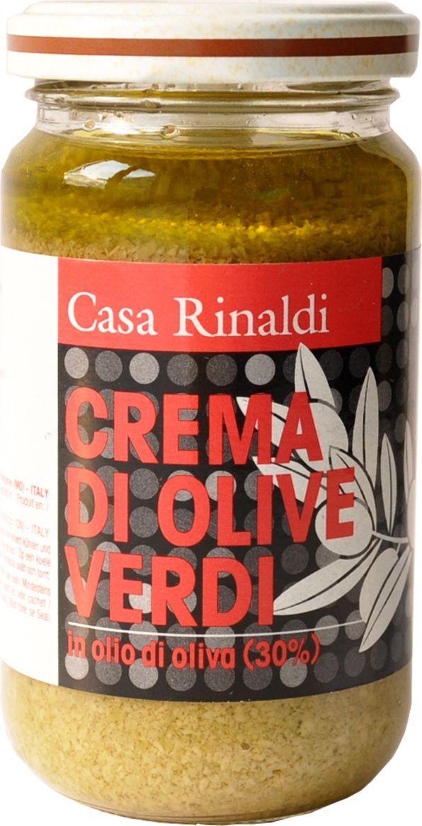 Casa Rinaldi Крем-паста из оливок в оливковом масле, 180 г casa rinaldi маслины гигантские bella di cerignola ggg dop 590 г