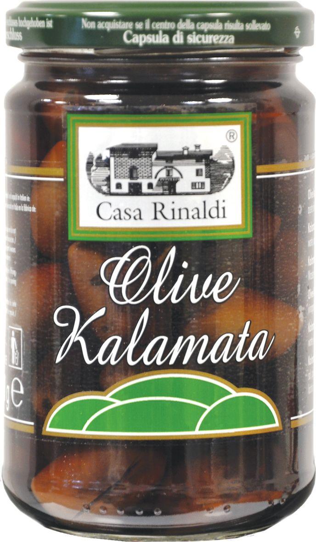 Casa Rinaldi Оливки Каламата с косточкой, 300 г delphi маслины с косточкой натуральные в рассоле 350 г