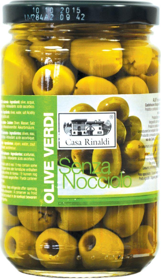 Casa Rinaldi Оливки консервированные без косточки, 300 г оливки без косточки принцесса вкуса 300 мл