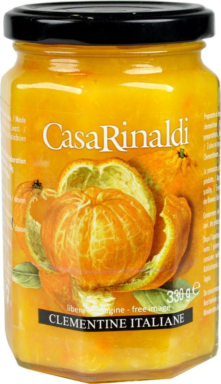Casa Rinaldi Конфитюр из клементинов, 330 г0.1149.0110Клементин - гибрид горького апельсина и мандарина. Конфитюр из померанца можно добавлять к различным блюдам из мяса, птицы и рыбы, к мягким сырам. Идеально для вкусного завтрака со свежим хлебом или тостами, подходит в качестве начинки для пирогов и круассанов, к сырам (робиола, рикотта, таледжио, моцарелла), цитрусовому мороженому, Панна Котте. Хранить при t от 0°С до +25°С. После вскрытия хранить в холодильнике.