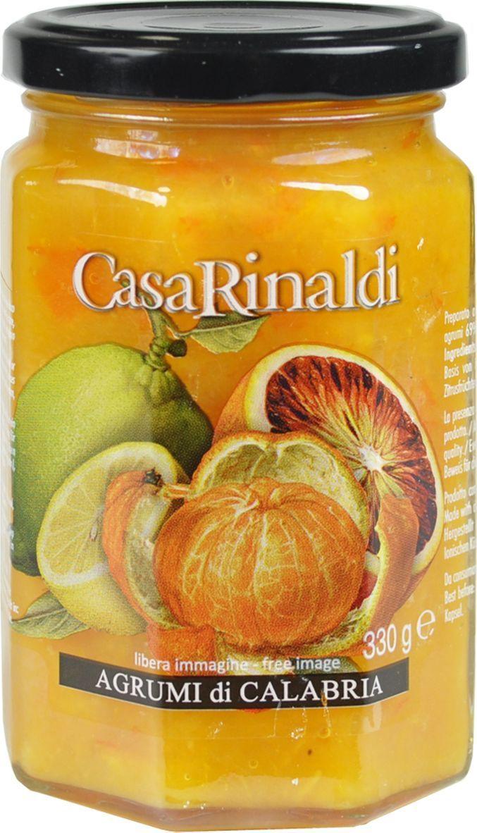 Casa Rinaldi Конфитюр из микса цитрусовых, 330 г casa rinaldi кофе молотый супер арабика натуральный 250 г