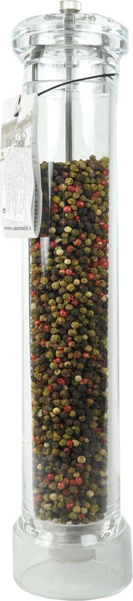 Casa Rinaldi ассорти перцев, 210 г0.1201.0307В Специи Casa Rinaldi Мельница - Ассорти перцев большая (Macinino pepe piccolo) входят перец черный, красный, белый, зеленый и розовый горошком. Черный и красный придают характерную жгучесть, белый менее жгучий, розовый и зеленый обладают неповторимым благородным ароматом нежности. Ассорти перцев добавит нотки пикантности в любое блюдо, подчеркнет или усилит вкус. Приправы также можно использовать для приготовления супов, салатов, овощей, мяса и для придания вкуса пресным диетическим блюдам. Многоразовая ручная мельница, степень помола регулируется винтом. Чем туже затягивается винт, тем мельче помол.Приправы для 7 видов блюд: от мяса до десерта. Статья OZON Гид