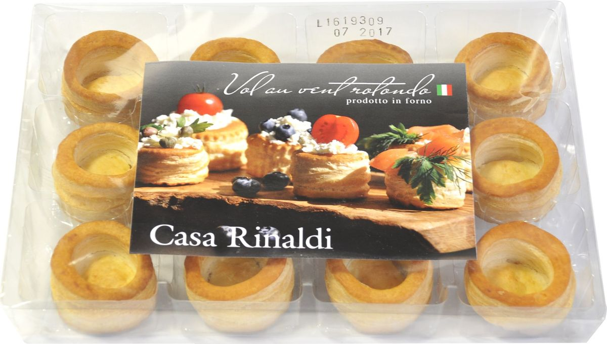 Casa Rinaldi Тарталетки круглые диаметр 50мм, 180 г0.1397.0057Тарталетки — небольшие корзиночки из пресного тестаразных форм и размеров – чудесная закуска к любому застолью! Начинка для тарталеток, приготовленная вами, будет неповторимо вкусной и оригинальной.