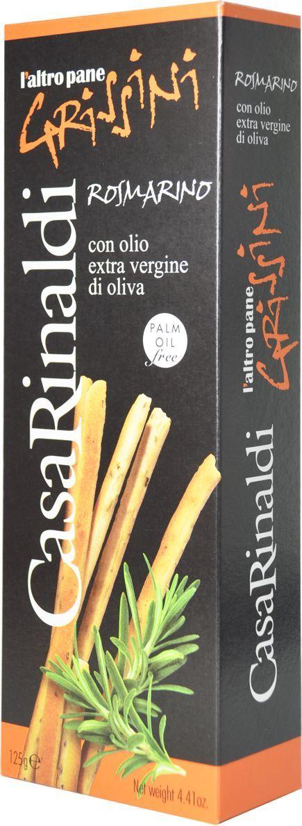 Casa Rinaldi Хлебные палочки Гриссини с розмарином, 125 г casa rinaldi рис карнароли среднезерный 500 г