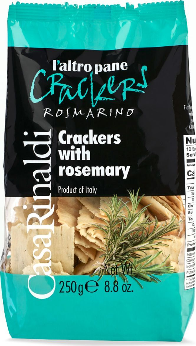 Casa Rinaldi Хлебцы крекеры с розмарином, 250 г nutrifree mini crackers мини крекеры 240 г