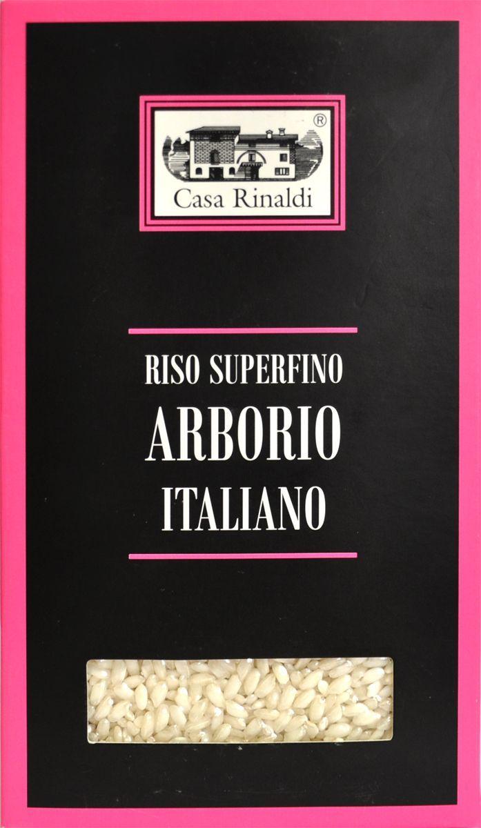 Casa Rinaldi Рис Арборио среднезерный, 500 г casa rinaldi рис венере среднезерный не шлифованный 500 г