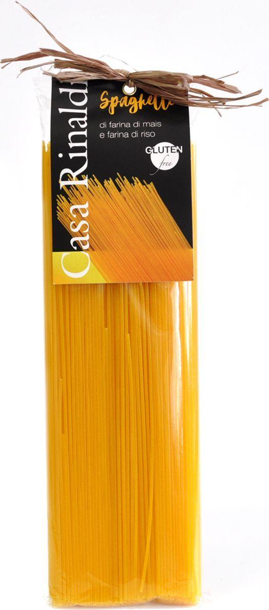 Casa Rinaldi Паста Спагетти без глютена из кукурузной и рисовой муки, 500 г casa rinaldi паста лингвини из непросеянной муки 500 г
