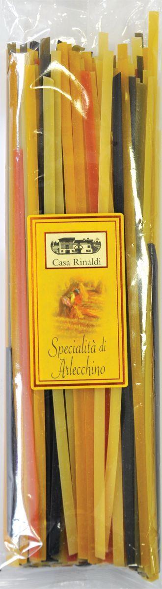 Casa Rinaldi Паста цветная Тальятелле Арлекино (лапша), 500 г prosto ассорти 4 риса в пакетиках для варки 8 шт по 62 5 г