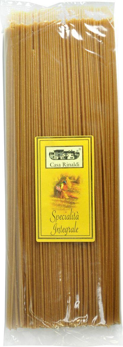 Casa Rinaldi Паста Спагетти из непросеянной муки, 500 г casa rinaldi паста пенне без глютена из кукурузной и рисовой муки 500 г
