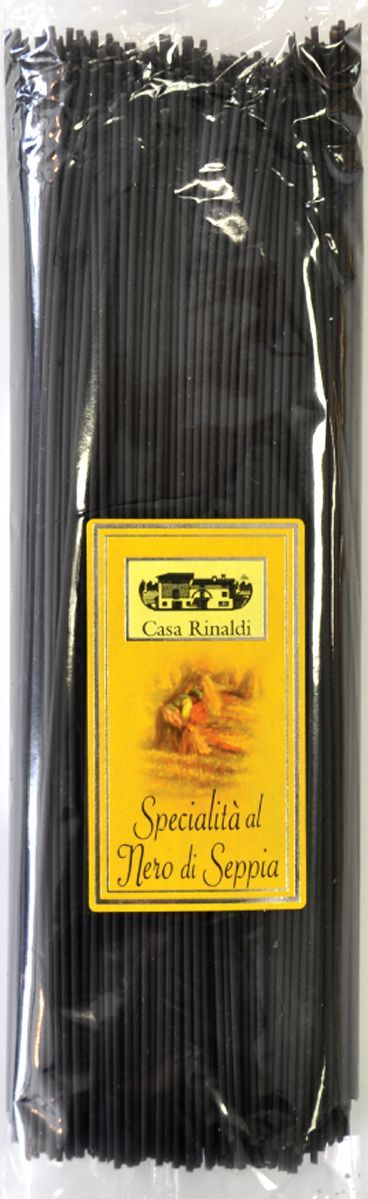 Casa Rinaldi Паста Спагетти с чернилами каракатицы, 500 г casa rinaldi паста фузилли без глютена из кукурузной и рисовой муки 500 г