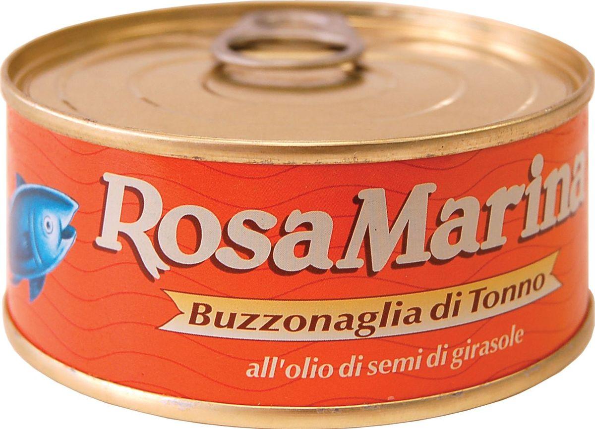 Callipo Rosa Marina Тунец Буззональя в подсолнечном масле, 160 г0.2274.0056Тунец Роза Мария Бузональя в подсолнечном масле добавляют в салаты и сэндвичи, на его основе также готовят соусы к курице, мясу и пасте. В любом виде тунец сохраняет свой нежный и изысканный вкус. Тунец удивителен в том числе и тем, что при его разделке практически не бывает отходов. Любые части этой рыбы можно использовать в пищу. Так, бузональя — это часть тунца, темное мясо, прилегающее к позвоночнику рыбы и остающееся на нем после филирования. Бузональя консервируется мелкими «хлопьями», имеет яркий вкус и используется для приготовления соусов к пасте. Мясо тунца — богато фосфором, легко усваиваемыми белками, ненасыщенными жирными кислотами, витаминами A и B1, что делает его диетическим и здоровым продуктом. Это редкий виды рыбы, чьи полезные свойства не теряются при консервации. Хранить при t не выше +25°С. После вскрытия хранить при t от 0°С до +8С, желательно употребить в течение недели.