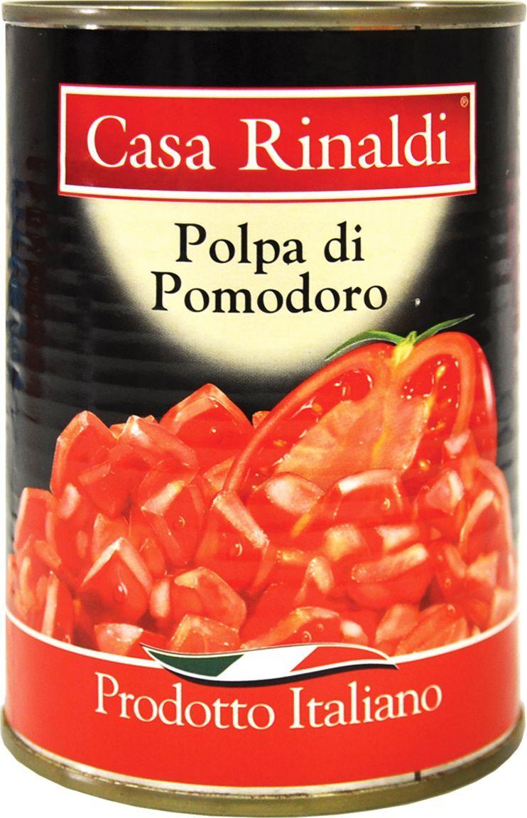 Casa Rinaldi Кусочки очищенных помидоров в томатном соке, 400 г casa rinaldi маслины гигантские bella di cerignola ggg dop 590 г
