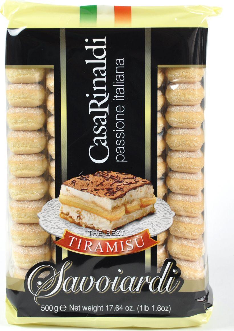 Casa Rinaldi Печенье Савоярди, 500 г бисквитные палочки савоярди 400 гр